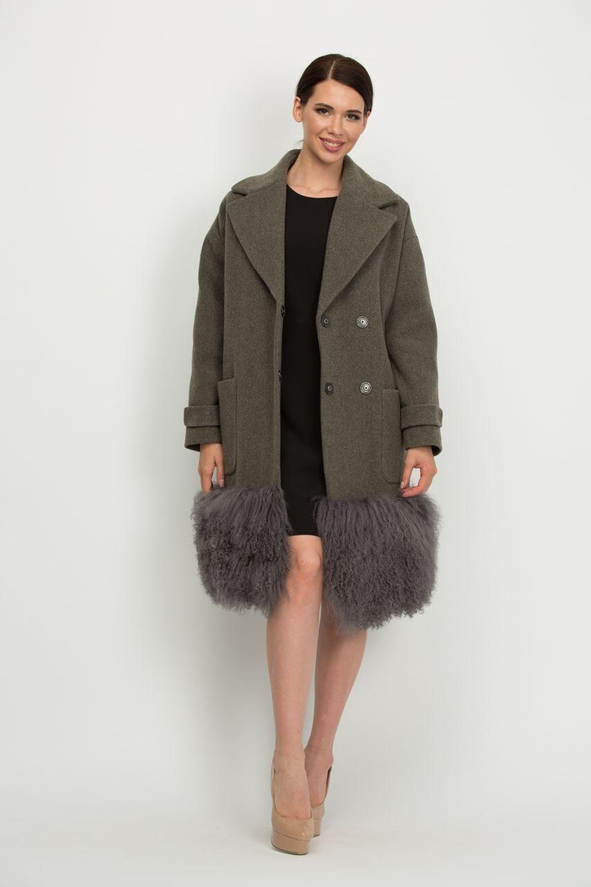 2746af817f3 Зимнее пальто с мехом ламы